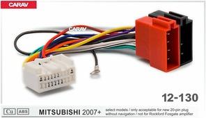 Переходник для подключения магнитолы CARAV 12-130 - Штатный ISO MITSUBISHI 2007+ (no amp, no rockford)