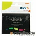 Закладки самокл. индексы пластиковые Stick`n 21076 12x45мм 5цв.в упак. 25лист в обложке европодвес