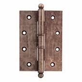 Петля дверная универсальная Melodia латунь 522A 126 мм античное серебро
