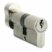 Цилиндр Morelli 70 мм/30+10+30 ключ-вертушка белый никель