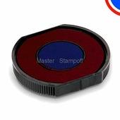 Сменная штемпельная подушка GRM R40/22 красно-синяя