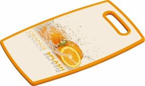 Разделочная доска Kesper Апельсин, 3081-1, белый, оранжевый, 37 х 23 см