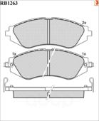 Дисковые Тормозные Колодки R Brake R BRAKE арт. RB1263