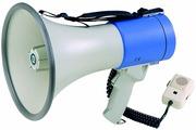 """SHOW ER66 - Мегафон ручной 25 Вт, выносной микрофон, 12 В, 8 батарей тип """"С"""", вес 1,65 кг, пластик"""