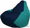 Кресло-мешок Flagman Груша Мега Г3.1-50 темно-синий/бирюзовый