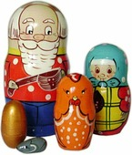 """Матрешка """"Курочка Ряба"""", 5 персонажей (Нескучные игры)"""