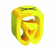 """Маркер закрытого профиля Partex PA-2 на провод 2.5-16.0 мм², символ """"X"""", желтый/черный (пачка 100 шт.) {PA-200..."""