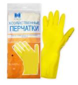 Перчатки хозяйственные латексные (М)