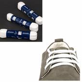 Шнурки Saphir 75см. Плоские, 8мм, (21 белый)