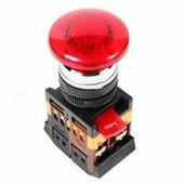IEK Кнопка красная AELA-22 Гриб с подсветкой неон 1з+1р 240В (BBG20-AELA-K04)