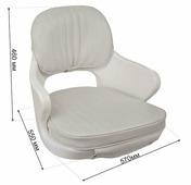 SPRINGFIELD Кресло для лодки YACHTSMAN мягкое, съемные подушки, материал белый винил
