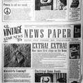 Бумага для подачи «Газета» 1000 шт 26х26 см Fab up 4146629