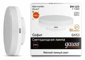 Лампа светодиодная gauss 83816, GX53, GX53, 6Вт