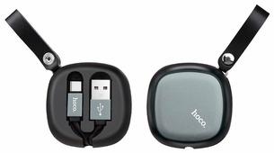 Кабель Hoco U33 Retractable USB - USB Type-C 0.9 м