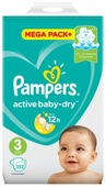 Pampers подгузники Active Baby-Dry 3 (6-10 кг) 152 шт.
