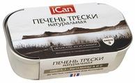 ICan Печень трески натуральная, 115 г