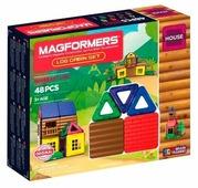 Магнитный конструктор Magformers House 705006 Домик из бревен