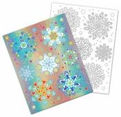 Наклейка интерьерная Феникс Present Разноцветные снежинки 30 x 38 см