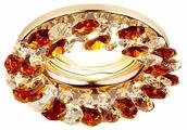 Встраиваемый светильник Ambrella light K206 TI/G, золото/янтарный