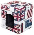 Будка для кошек DreamBag складная Флаги 37х37х40 см