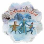 Панно Феникс Present Зимние забавы 13.2 x 13.2 x 3 см