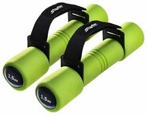 Набор гантелей цельнолитых Starfit DB-203 2x1.5 кг зеленые