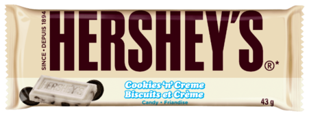 Шоколад Hershey's Cookies'n'Creme белый с печеньем