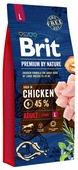 Корм для собак Brit Premium by Nature курица (для крупных пород)