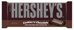 Шоколад Hershey's Cookies'n'Chocolate молочный с печеньем