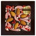 Шоколад Chokodelika Узорный темный с клубникой и миндалем