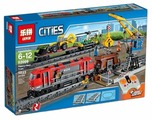Электромеханический конструктор Lepin Cities 02009 Мощный грузовой поезд
