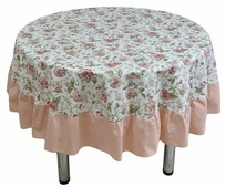 Скатерть Fresca Design English rose с рюшей (skr04.2) 185 см