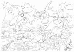 Фолиант Раскраска Динозаврики РСМ-3