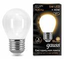 Лампа светодиодная gauss 105202105, E27, G45, 5Вт