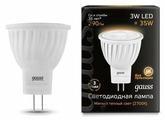 Лампа светодиодная gauss 132517103, GU4, MR11, 3Вт