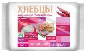 Хлебцы амарантовые Di & Di с топинамбуром и луком (пакет) 100 г