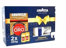 Набор кофе молотый Lavazza Оро 2 х 250гр + чашка