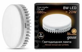 Лампа светодиодная gauss 108008108, GX53, GX53, 8Вт