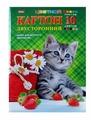 Цветной картон двусторонний Котенок с клубничкой Hatber, A4, 10 л., 10 цв.