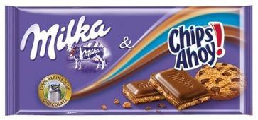 Шоколад Milka Chips Ahoy молочный с кусочками печенья