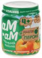 Пюре АМ-АМ мамина забота персик (с 4 месяцев) 90 г, 12 шт