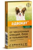 Адвокат (Bayer) Адвокат для щенков и собак до 4 кг (1 пипетка)