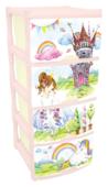 Бельевой комод Little Angel Для игрушек 4 секции 480
