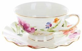 """Best Home Porcelain Набор чайных пар """"Summer day"""" 4 предмета, 220 мл (подарочная упаковка)"""