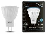 Лампа светодиодная gauss 132517203, GU4, MR11, 3Вт