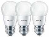 Упаковка светодиодных ламп 3 шт Philips Essential LED 2700К, E27, P48, 6.5Вт