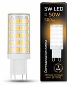 Лампа светодиодная gauss 107309105, G9, JCD, 5Вт