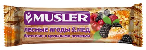 Злаковый батончик Musler Лесные ягоды и мед, 30 г