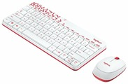 Клавиатура и мышь Logitech MK240 Nano White-Red USB