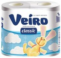 Туалетная бумага Veiro Classic белая двухслойная